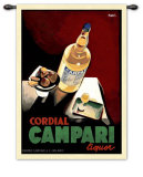 Campari Wall Tapestry by Marcello Nizzoli