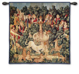 Unicorn Dips his Horn Wall Tapestry
