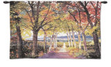Autumn Path Wall Tapestry by Douglas Chun