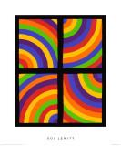 Color Arcs in Four Directions, c.1999 Premium Giclee-trykk av Sol Lewitt