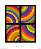 Color Arcs in Four Directions, c.1999 Premium Giclee Print by Sol Lewitt