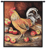 English Cockerel Wall Tapestry by Alexandra Churchill