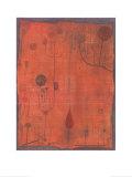 Fruchte Auf Rot, c.1930 Kunstdruck von Paul Klee