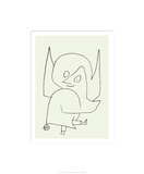 鈴をつけた天使 セリグラフ : パウル・クレー