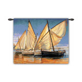 White Sails II Wall Tapestry by Jaume Laporta