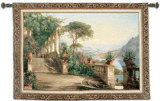 Lodge at Lake Como Wall Tapestry by Carl Frederic Aagaard