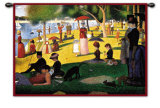 Sunday Afternoon Wall Tapestry by Georges Seurat