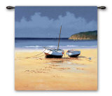 Moorings Low Tide Wall Tapestry by David Short