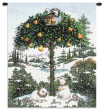 Partridge in a Pear Tree Wall Tapestry by Lynn Bywaters