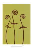 Dichromatic Fiddleheads I Prints by Vanna Lam