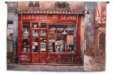 Librairie De Seine Wall Tapestry by K. C. Lai