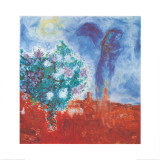 Die Liebenden Uber St Paul, c.1971 Affiches par Marc Chagall