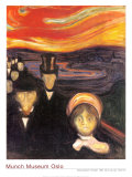 Anxiety, 1894 Láminas por Edvard Munch