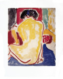 Yellow Bare Back, c.1909 Art by Ernst Ludwig Kirchner