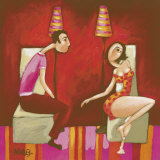 Tete A Tete Under the Lampshade Prints by Delphine Riffard