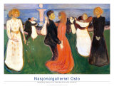 Dance of Life, 1900 Affiches par Edvard Munch