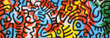 Sin ttulo Lmina por Keith Haring