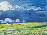Wheatfield under a Cloudy Sky, c.1890 Posters by Vincent van Gogh