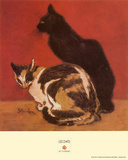 Cats, 1910 Prints by Th&#233;ophile Alexandre Steinlen