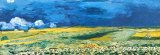 Wheatfield under a Cloudy Sky, c.1890 Poster by Vincent van Gogh