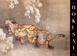 Old Tiger in the Snow Posters van Katsushika Hokusai