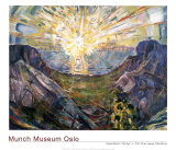 The Sun, 1912 Prints by Edvard Munch