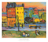 Houses in Munich, 1908 Posters by Wassily Kandinsky