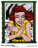 Girl in Window Art by Roy Lichtenstein