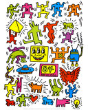Ohne Titel Kunstdrucke von Keith Haring