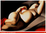 The Beautiful Rafaela Print by Tamara de Lempicka