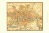 Map of London Plakaty