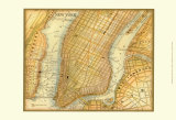 Map of New York Prints