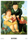 Family Posters by Fernando Botero