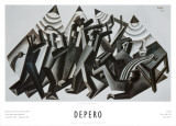 Brawl, 1926 Print by Fortunato Depero