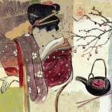 Asia Tea Posters by Sabine Gotzes