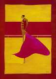 Bullfighter with Cape I Posters by Thierry Ona