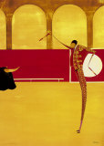 Bullfighter and Bull II Print by Thierry Ona