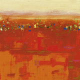 Red Landscape Print by Rose Richter-armgart