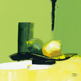 Green Glimmer Affiches par Bernard Ott