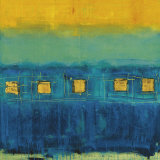 Blue Train Kunstdrucke von Anke Ibe