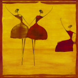 Dancers Print by Thierry Ona