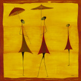 Ants with Parasols Prints by Thierry Ona