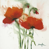 Poppies in the Wind II Posters af Marthe