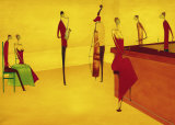Bar Jazz Kunst af Thierry Ona