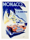 Monaco Grand Prix, c.1952 Giclee Print