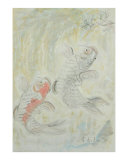 Carps Bringing Good Luck Giclee Print by Chieko Toyoda