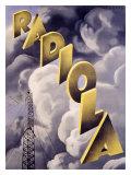 Radiola RKO Radio Station Giclee Print by Max Ponty