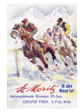 Horse Race, St. Moritz Giclee Print by Hugo Laubi