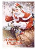 A Merry Christmas, Santa Claus Giclee Print