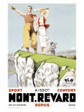 Mont Revard, Tennis and Golf Giclee Print by Paul Ordner